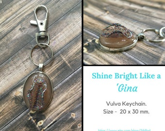 Shine Bright Like a 'Gina - Vulva Pendant