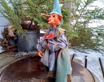 OOAK Elf - Baby Elf - Troll - OOAK - Goblin - Elf - Handmade - Fairy - Collectible - Primitive - Fantasy - Art Doll - Whimsical - Faap
