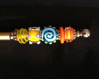Circus Lampwork Bead Electronic Touch Stylus