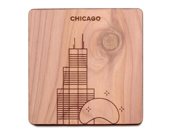Chicago Coaster - Sears Tower and Cloud Gate