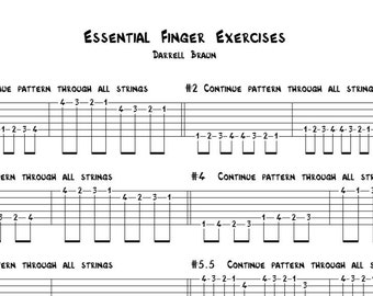 Essential Finger Exercises for Guitar