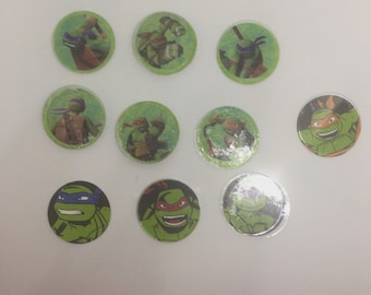 Teenage Mutant Turtle Magnets or Push Pins, Boy's Magnets, Cartoon Magnets, Fun Push Pins