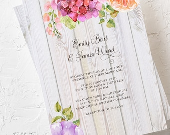 Summer Blooms - Wedding Invitations (Style 13616)