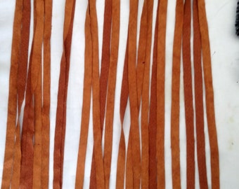 1 piece Red Light Brown Suede Fringe 24 inch wide SHIPS FROM USA