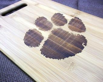 Custom Engraved Clemson Tigers Cutting Board