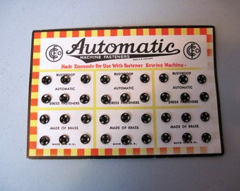 NOS carded Automatic clothing Snaps