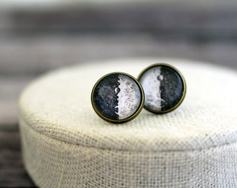 Galileos Moons Earrings, Moon Phase Earrings, Galileo Galilei, Moon Drawing, Moon Sketch, Retro Moon Earrings, Retro Astronomy, Science