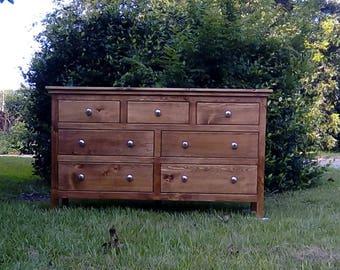 Dresser,Bedroom Dresser,Solid Wood Dresser,Bedroom Furniture,Handmade  Dresser,Large