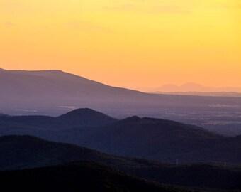 Sunset Photography, Appalachian  Sunset, Fine Art Photography, Nature Photography