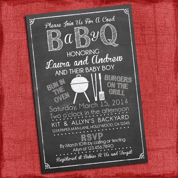 Exceptional Baby Q Shower Invitation BBQ Baby Shower BABYQ Barbecue