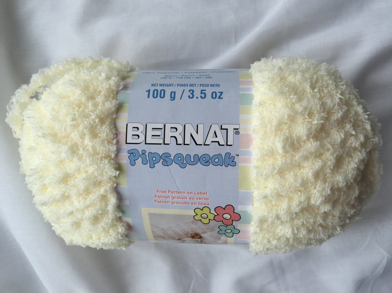 VANILLA 59008 Bernat Pipsqueak Yarn 3.5 oz. ~100g ~120 Yds ~ Fluffy ...