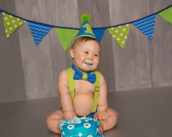 Cake Smash Outfit Boys Baby Boy First Birthday Outfit First