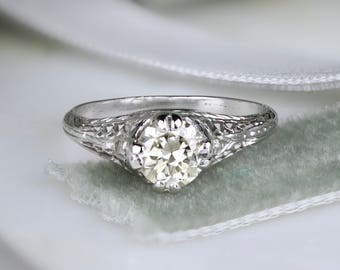 1920s engagement ring Etsy