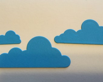 DIE CUT CLOUDS -  (in three sizes) - Handmade - Choose your own colors - Set of eight (8).