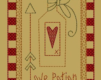 MACHINE EMBROIDERY-Keeper Of My Heart-Block-3-Colorwork-5x7-Instant Download