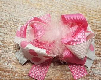 """4"""" Funky layered bow"""