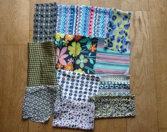 set of 84 patchwork fabrics coupons