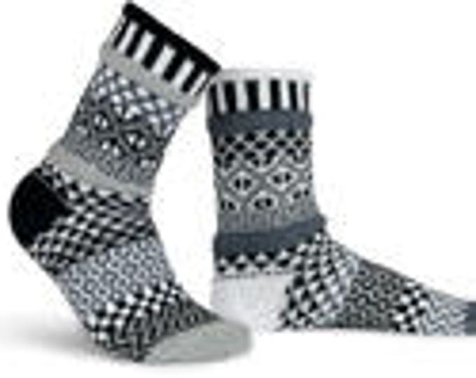 Solmate Socks - Midnight Crew - Adult LARGE
