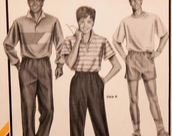 "Stretch & Sew 195 Ladies' and men's sports pants and shorts pattern Uncut Hip sizes 32""-48"""