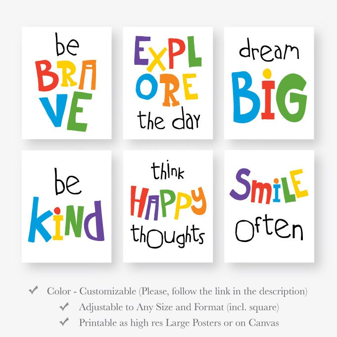 Motivational Quotes For Young Students: Motivational Quotes For Kids Download Playroom Quote Poster