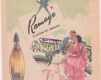 Old advertising Ramage perfume Blackburn 50's