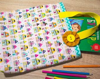 Girls bag Kids bag pink Girls tote bag Book bag Toddler handbag Preschool bag Kawaii bag Summer bags turquoise kids accessories Girls purse