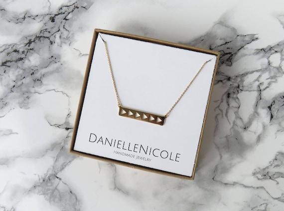 Metal Bar Necklace, Dainty Necklace, Pendant Necklace, Dainty Jewelry, Everyday Jewelry, Statement Jewelry, Layered Necklace, Boho Necklace