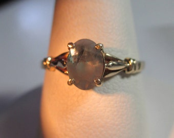 VIntage 14kt .79ct Natural Alexandrite Yellow Gold Ring