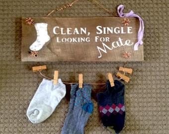 Laundry, Missing Sock Barnwood Sign
