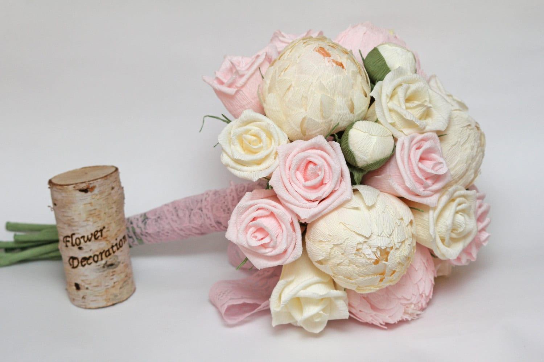 Wedding bouquet paper flower bouquet bridesmaids bouquets zoom izmirmasajfo Choice Image