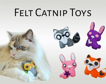 Felt cat toy 'Fairy Tail Friends' with catnip - Soft catnip toys - Cute catnip toys