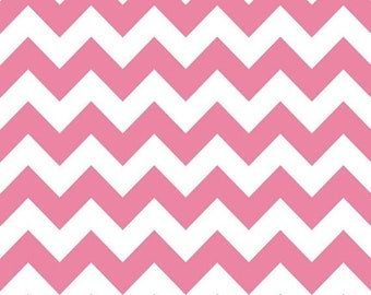 SALE Hot Pink Chevron Medium Fat Quarter Riley Blake Fabric Cotton
