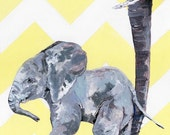 Elephant Nursery Print - ...