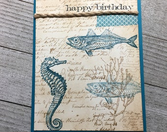 Happy Birthday Handmade Card Fish