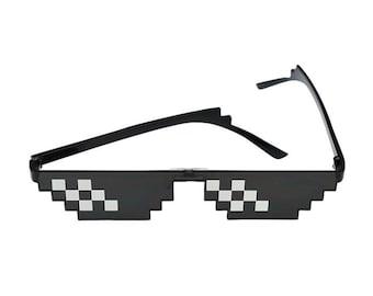 8Bit Sunglasses Thug Life Pixel Glasses Internet Meme