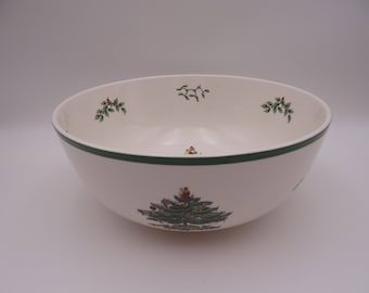 Spode Christmas Tree Made in England Large Salad Bowl