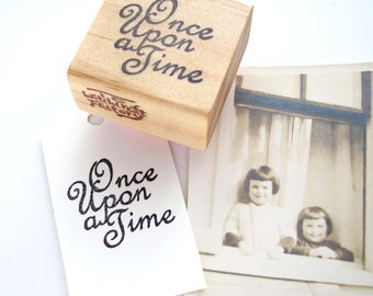 Once Upon a Time, Hand Carved Stamp