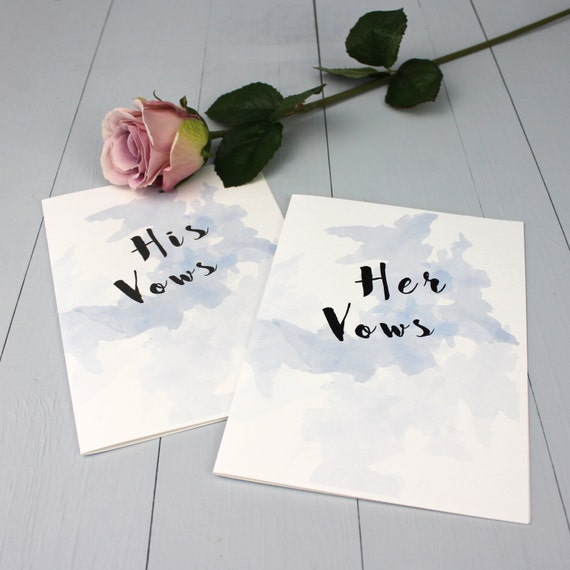 Wedding Vow Ideas For Groom: Wedding Vow Books Bride And Groom Wedding Vows Blue