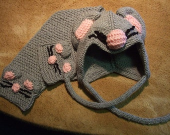 Knitted Mouse Set