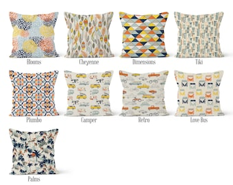 Orange Pillow Cover, Decorative Throw Pillow Covers, Euro Pillow Sham 16 x 16, 18 x 18, 20 x 20, 22 x 22, 24 x 24, 26 x 26