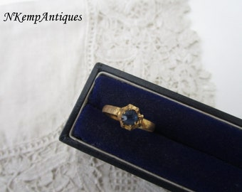 Antique glass ring
