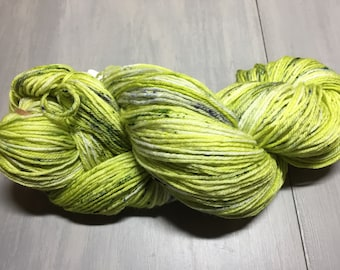 Green with Envy Hand Dyed Sock Yarn