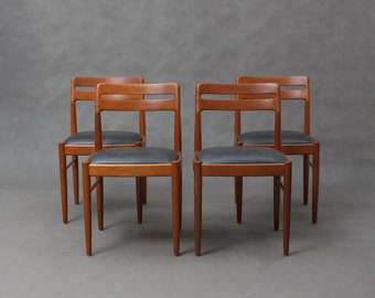 Four  H.W Klein teak chairs for Bramin