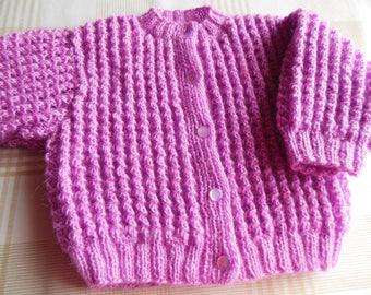 Pink cardigan vest
