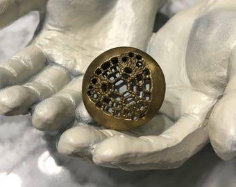 Brass Metal Ornate Knob Furniture Pull, Decorative Hardware Furniture Knobs, Cabinet Pulls, Item #482582877