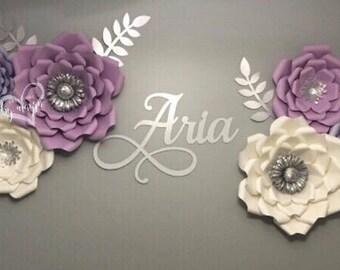 6pc nursery paper flower set / paper flowers / nursery decor / nursery flowers / Customize you colors
