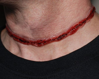 Halloween Costume - Bloody  Necklace  Cut-Throat 3
