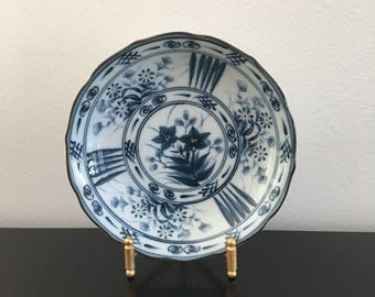 Vintage,Japanese Porcelain Dish,Japanese Plate,Blue And White,Trinket Dish, Oriental decor, Asian Interiors,Japanese Porcelain,Plate,Bowl