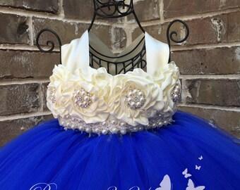 Royal Blue Flower Girl Dress, Royal Blue Tutu Dress, Royal Blue Tulle Dress, Royal Blue Dress, Royal Blue Wedding, Royal Blue, Flower Girl