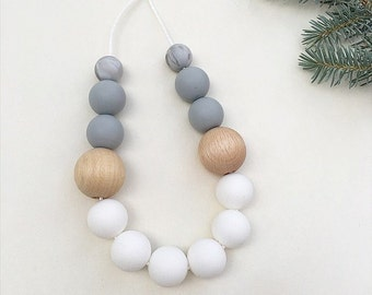 SARI Necklace // Teething // Teething Necklace // Nursing Necklace // Silicone Beads // 100% Food Grade Silicone // Modern Jewellery